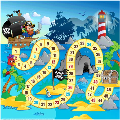 printable number board games pirate board game printable template free printable