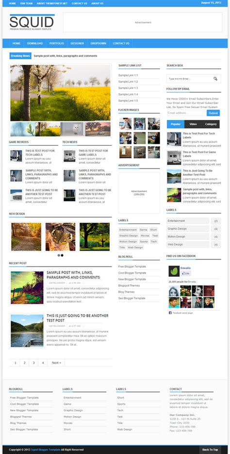 templates blogger premium squid clean responsive blogger template blogger