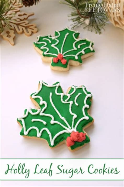 christmas holly leavessugar decorations how to make leaf sugar cookies using maple leaf cookie cutters