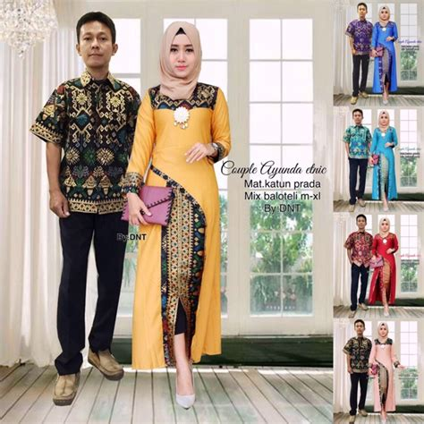 Setelan Etnic batik ayunda etnic kebaya modern baju muslim baju