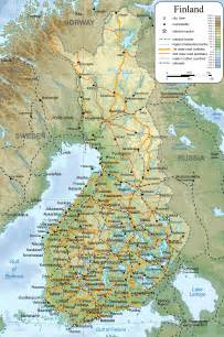 large detailed map of finland with cities and towns