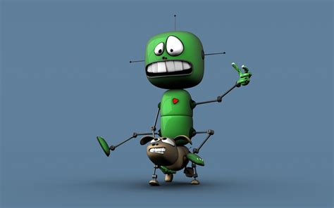 wallpaper robot cartoon 3d cartoon wallpaper 90367