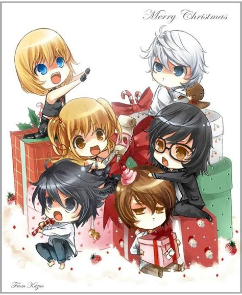 death note christmas mello near misa mikami l and