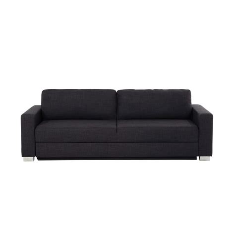 3 seater fabric sofa bed in charcoal grey maisons