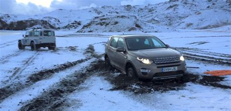 land rover iceland land rover discovery sport gets stuck in iceland