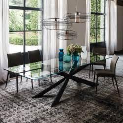tavoli da soggiorno in cristallo tavolo in cristallo lungo tre metri spyder di cattelan