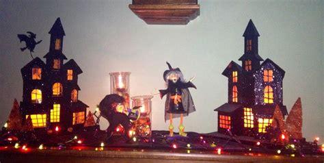Haunted Halloween Decorations Putz Halloween Decorations Haunted House Halloween