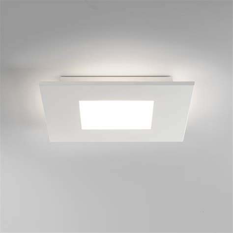 Led Ceiling Lights Uk 7419 Zero Square Led Flush Ceiling Light White