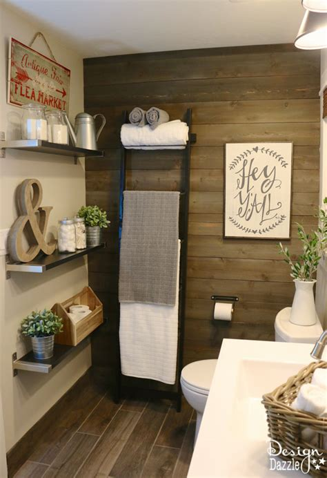 Farm Bathroom Decor by 23 Rustic Farmhouse Decor Ideas The Crafting Nook By