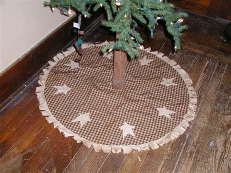 primitive homespun christmas tree skirt christmas tree