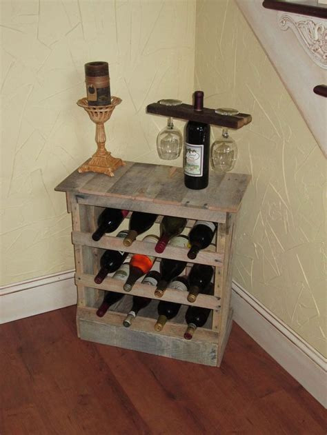 custom  pallet wood  bottle wine rack floor
