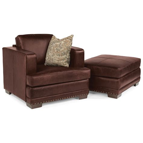 leather chair and ottoman sets flexsteel latitudes fulbright transitional leather chair