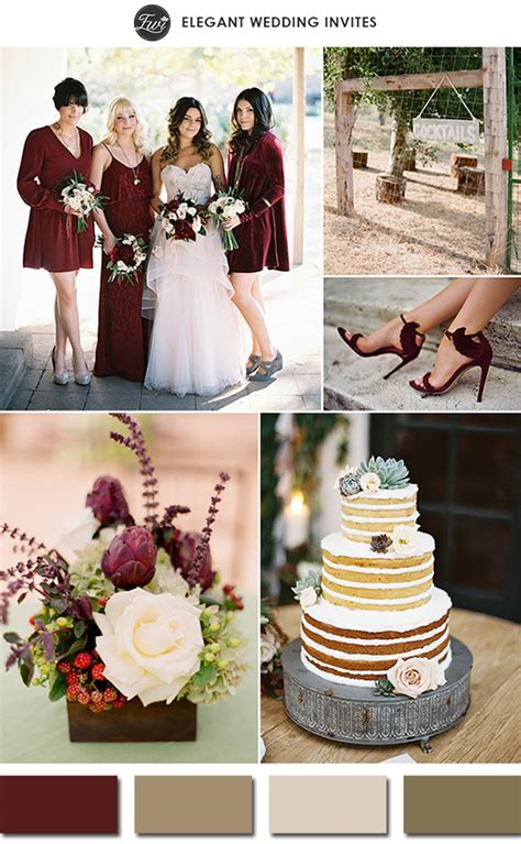 colour schemes for weddings 2015 pantone color of the year 2015 marsala wedding color