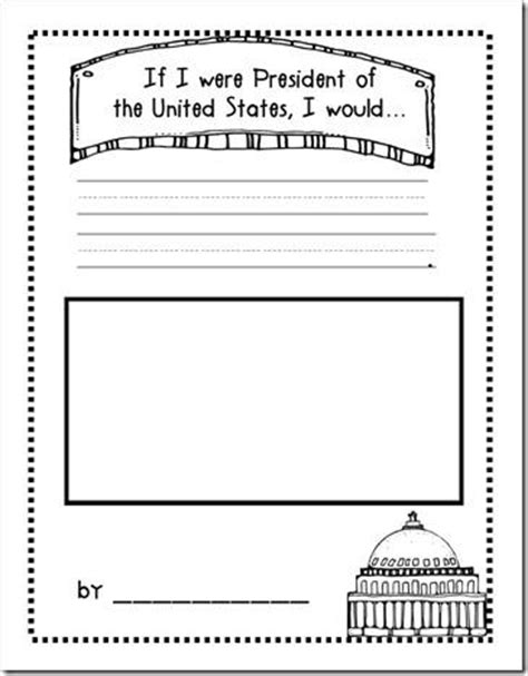 Writing Activity Book quot if i were president quot free president s day worksheet