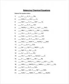 sample balancing equations worksheet templates 9 free