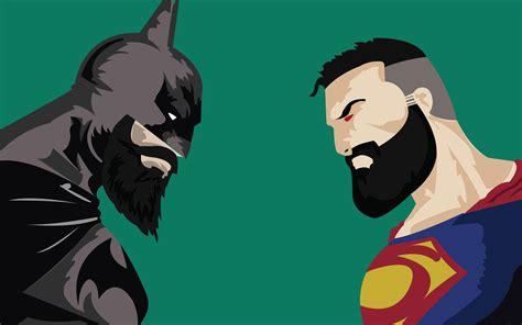 imagenes graciosas 4k batman superman beard funny dc 4k wallpaper 711