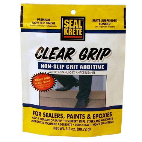 seal krete  oz clear grip anti skid additive