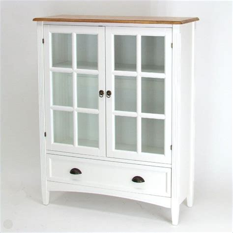 Wood Bookcase With Glass Doors Wayborn 1 Shelf Barrister Bookcase With Glass Door Wood In White Ebay