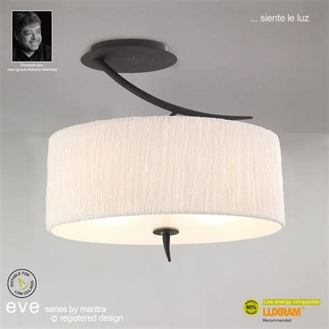 mantra spain m1152 anthracite semi 2 light with white