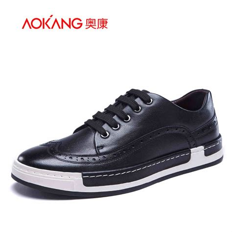 Casual Shoes S 499 New Arrival aokang 2017 new arrival s casual shoes genuine leather shoes brogue shoes s fashion