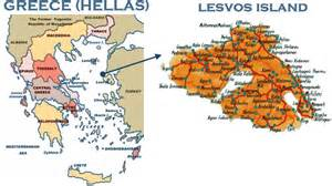 Lesvos Greece Map by Walking Holidays In Lesbos