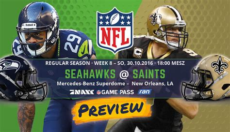 Cycle 8 Preview by Preview Regular Season 2016 Week 8 Seahawks Saints