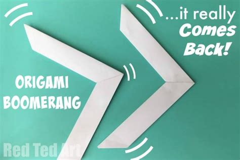 How To Make Boomerangs Out Of Paper - origami boomerang that comes back ted s