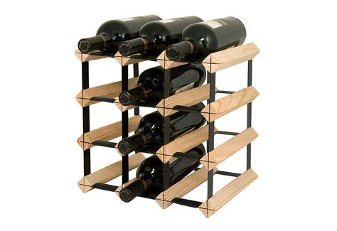 12 bottle wood wine rack sharper image