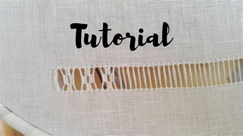 gabrieli tende ricamo tutorial sfilatura a rombi
