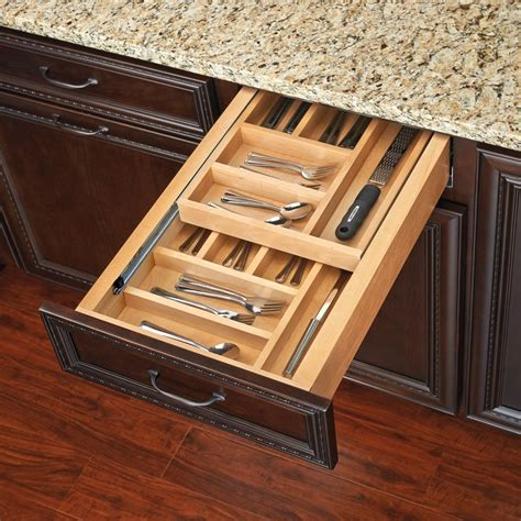 kitchen cabinet drawer organizers rev a shelf tiered double cutlery drawer for 24 quot cabinet