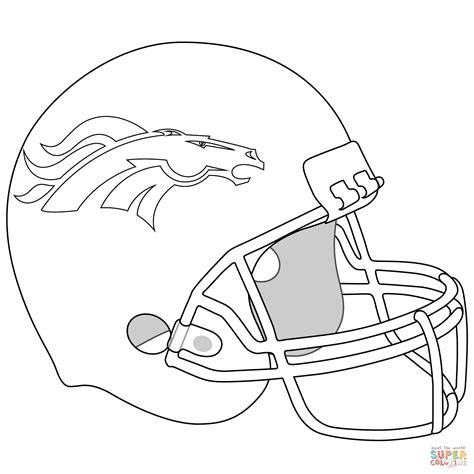broncos coloring pages denver broncos helmet coloring