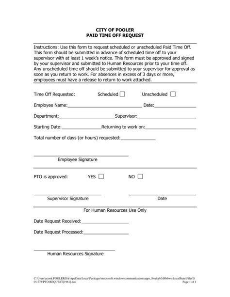 x request form template 9 pto request form templates pdf free premium templates