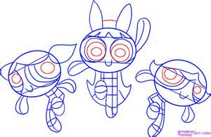 powerpuff drawing how to draw the powerpuff step by step