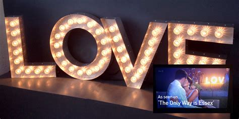 modern battery operated 52cm led love letters table l light signs for home home design