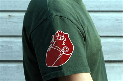 wear  heart   sleeve cool tshirts  crunchy badger clothing