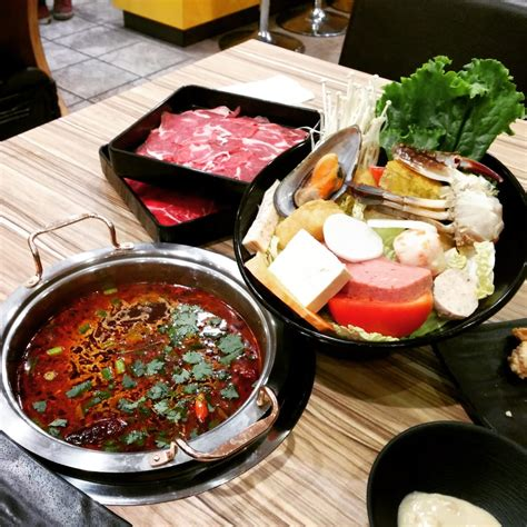 steam boat japanese large hot pot 18 50 and spicy broth yelp