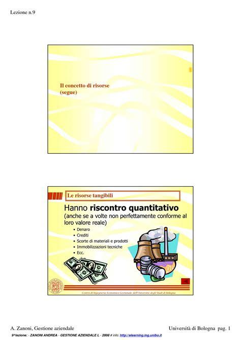 gestione aziendale dispense risorse tangibili e intangibili dispense