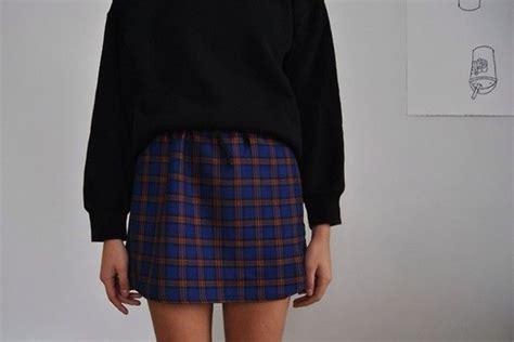 Jumper Check Skirt skirt blue checkered jumper black mini plaid skirt