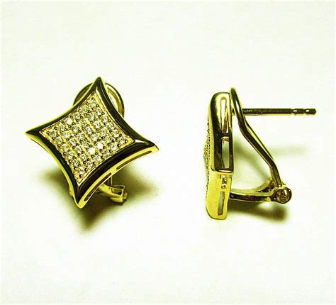 hip hop earrings 925