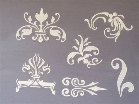 small design raised plaster small designs 2 stencil set victorian