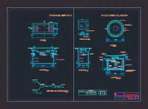 septic tank   percolator dwg section  autocad