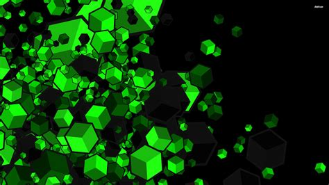 green or black cubes hd wallpaper and hintergrund