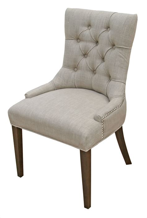 Upholstery Fabric For Kitchen Chairs by R 1071 Accent Tufted Fabric Chair In Sand