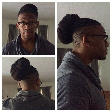 straight black hair pulled back in bun pulled back loc bun great for keeping your hair off of