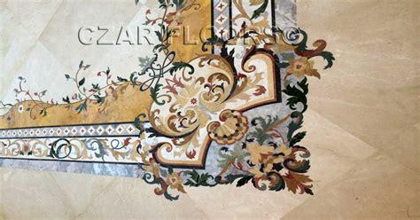 Example of Hardwood or Stone floor Medallion, Borders