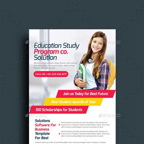 education psd templates image gallery education flyer