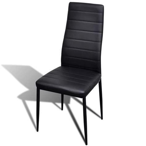 4 Black Dining Chairs 4 Pcs Black Slim Line Dining Chair Vidaxl Au