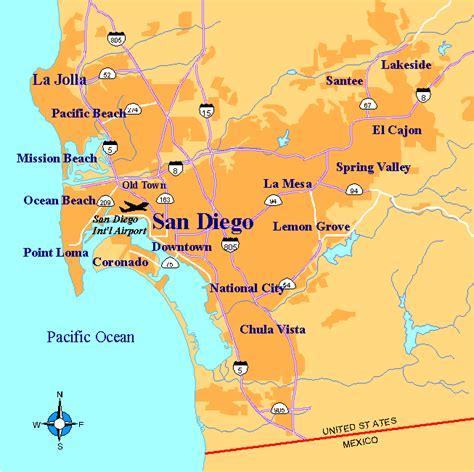 usa map states san diego san diego metro map california listings united states