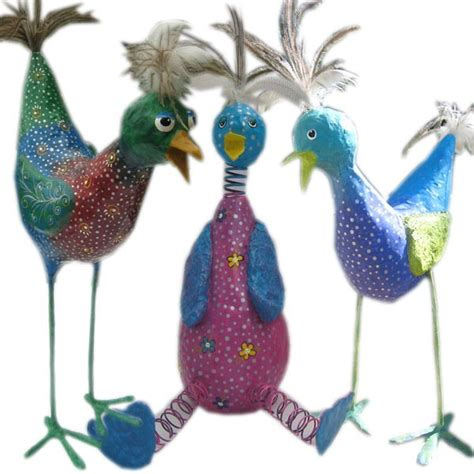 How To Make A Paper Mache Bird - how to make whimsical paper mache birds birds how to