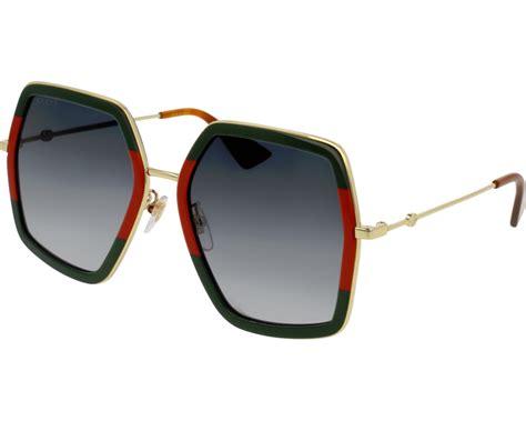 Gucci 0106/S Green/Red/Gold Grey Gradient - Fashion ... Gucci Sunglasses Warranty